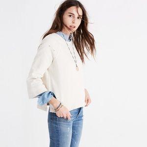 Madewell Rivet & Thread Distressed Sweatshirt
